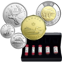 2017 Classic Canadian Coins Special Wrap Roll Set