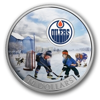 2017 Canada $10 Passion to Play - Edmonton Oilers Fine Silver (No Tax)