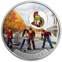 2017 Canada $10 Passion to Play - Ottawa Senators Fine Silver (No Tax)