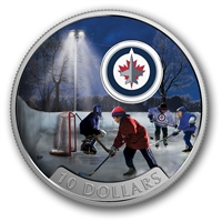 RDC 2017 Canada $10 Passion to Play - Winnipeg Jets Fine Silver (No Tax) - Dented Box