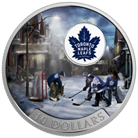 2017 Canada $10 Passion to Play - Toronto Maple Leafs Silver (No Tax)