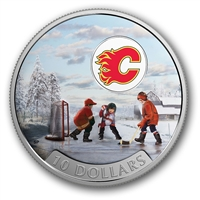 RDC 2017 Canada $10 Passion to Play - Calgary Flames Fine Silver (No Tax) - Coin Scuffed