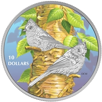 RDC 2017 Canada $10 Birds Among Nature's Colours - Tufted Titmouse (No Tax) Impaired