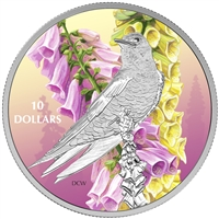 RDC 2017 Canada $10 Birds Among Nature's Colours Purple Martin (No Tax) capsule impaired