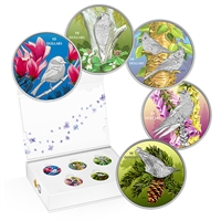 2017 Canada $10 Birds Among Nature's Colours 4-coin Silver Set with Deluxe Box (No Tax)
