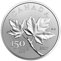 RDC 2017 Canada $10 Maple Leaves Fine Silver Coin (No Tax) Scratched Capsule