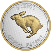 2017 Canada 5-cent Big Coin - Alex Colville Designs 5oz. Fine Silver (No Tax)