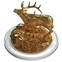 2017 $100 Sculpture of Majestic Canadian Animals - Elk Silver (No Tax)