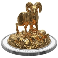 2017 $100 Sculpture of Majestic Canadian Animals - Bighorn Sheep (No Tax)