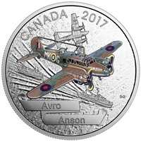 2017 Canada $20 Aircraft of WWII - Avro Anson Fine Silver (No Tax)