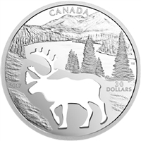 2017 Canada $30 Endangered Animal Cutout - Woodland Caribou (NO Tax)