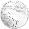 2017 Canada $30 Endangered Animal Cutout - Whooping Crane Fine Silver (No Tax)