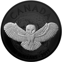 RDC 2017 Canada $20 Nocturnal By Nature - The Barn Owl (No Tax) Impaired