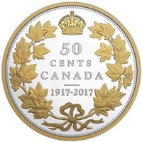 2017 Canada 50-cent 100th Anniversary of the 1917 Half Dollar (No Tax)