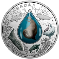 RDC 2017 $20 Canadian Underwater Life Fine Silver (No Tax) Impaired