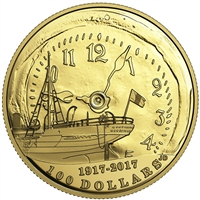 2017 Canada $100 100th Anniversary of the Halifax Explosion 14K Gold Coin