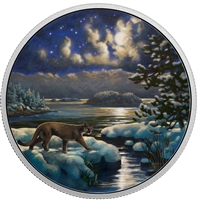 RDC 2017 Canada $30 Animals in the Moonlight - Cougar Silver (No Tax) toned