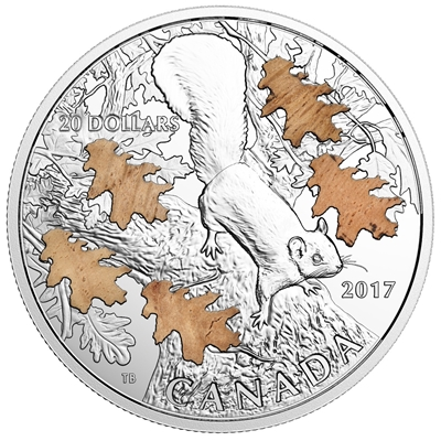2017 Canada $20 Nutty Squirrel & The Mighty Oak Fine Silver (No Tax)