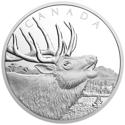 2017 Canada $125 Elk 1/2 Kilo Pure Silver Coin (No Tax)