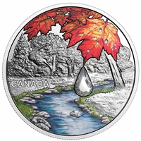 2017 Canada $20 Jewel of the Rain - Sugar Maple Leaves Fine Silver (No Tax)