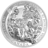 2017 $100 Canadian Confederation Medals: The 1867 10oz. Silver (No Tax)