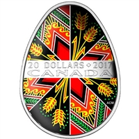 2017 Canada $20 Traditional Pysanka (Egg) Fine Silver (No Tax)