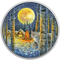 2017 Canada $30 Animals in the Moonlight - Lynx Fine Silver (No Tax)