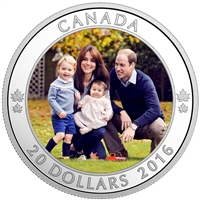 2016 Canada $20 A Royal Tour Fine Silver Coin (TAX Exempt)
