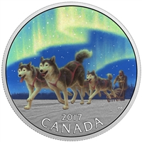 2017 $10 Iconic Canada - Dog Sledding Under the Northern Lights (No Tax)