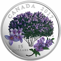 2017 Canada $15 Celebration of Spring - Lilac Blossoms Fine Silver (No Tax)