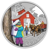 2017 $10 Iconic Canada - The Sugar Shack Fine Silver (No Tax)