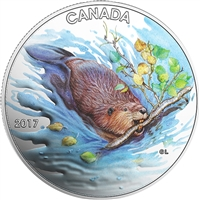 2017 $10 Iconic Canada - The Beaver Fine Silver (No Tax)