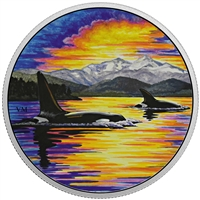 2017 Canada $30 Animals in the Moonlight - Orca Fine Silver (No Tax)