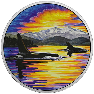 RDC 2017 Canada $30 Animals in the Moonlight - Orca (No Tax) toned
