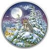 2017 Canada $30 Animals in the Moonlight - Great Horned Owl Silver (No Tax)