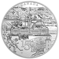 2017 $500 Canada 150 From Coast to Coast 5 Kilo Fine Silver (No Tax)