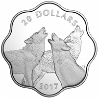 2017 Canada $20 Master of the Land - The Timber Wolf Fine Silver (No Tax)