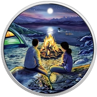 2017 $15 Great Canadian Outdoors - Around The Campfire Silver (No Tax)