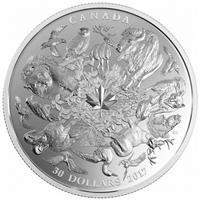RDC 2017 $30 Flora and Fauna of Canada Fine Silver (No Tax) impaired