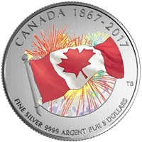 RDC 2017 Canada $5 Proudly Canadian Glow-in-the-Dark Fine Silver (No Tax) - Impaired