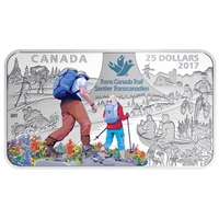 2017 Canada $25 The Great Trail Fine Silver Rectangular Coin (No Tax)