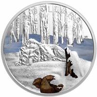 2017 Canada $20 Glistening North - The Arctic Wolf Fine Silver (No Tax)