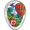 2017 Canada $20 Hot Air Balloons Fine Silver Shaped Coin (No Tax)