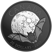2017 Canada $20 Nocturnal by Nature - The Little Brown Bat Silver (No Tax)
