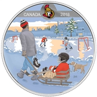 2018 Canada $10 Learning to Play - Ottawa Senators Fine Silver (No Tax)