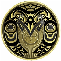 2017 Canada $100 Raven Brings the Light 14K Gold Coin
