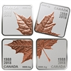 2018 Canada $3 Maple Leaf Quartet 30 Years (1988-2018) Rose-Gold Plated Silver (No Tax)