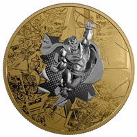 2017 Canada $50 DC Comics Originals - Brave & the Bold 3oz. Gold Plated Silver (No Tax)