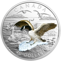 2018 Canada $20 3-Dimensional Approaching Canada Goose Fine Silver (No Tax)