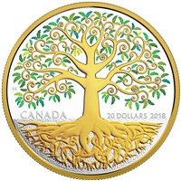 2018 Canada $20 Tree of Life Fine Silver Coin (No Tax)